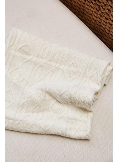 Arma Baby's Triko New Beyaz Örgülü Bebek Battaniyesi Beyaz